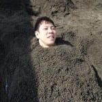 別府温泉ツアー①別府海浜砂場の天然砂風呂と東洋軒のとり天を体験☆